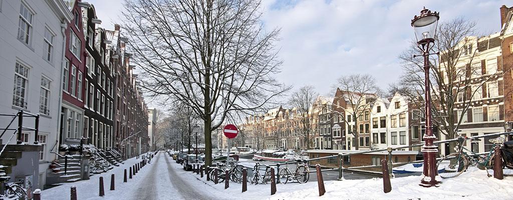 Het weer - Winter in Amsterdam
