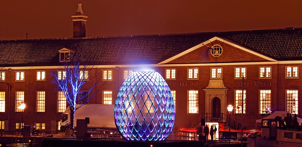 Amsterdam Light Festival - In front of Hermitage