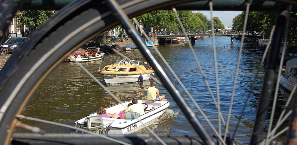 Amsterdam Walking Tour - View from a bike