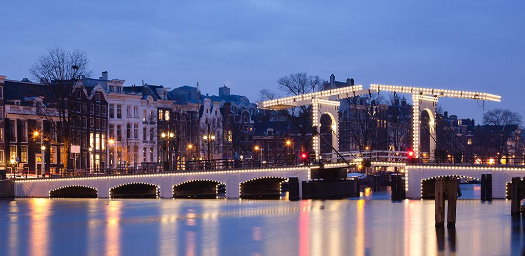 Magere Brug I Also Known As The Skinny Bridge Of Amsterdam