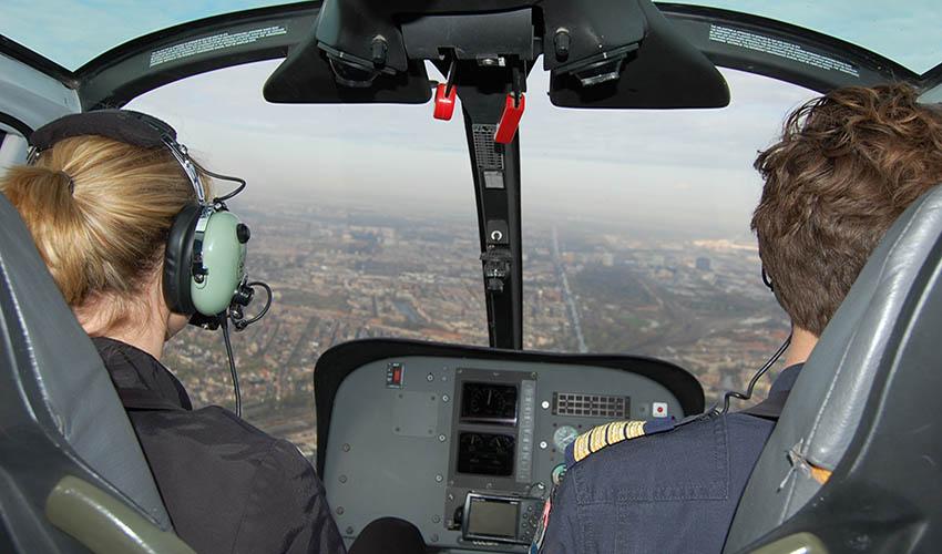 Helikoptervlucht boven Amsterdam
